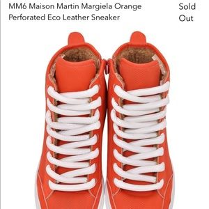 MM6 Maison Martin Marquila leather sneakers